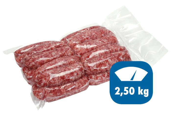 salsiccia nostrana sottovuoto 2,5kg