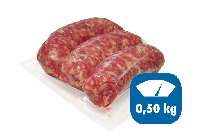 salsiccia fresca sottovuoto 0,5kg