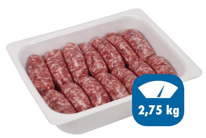 salsiccia fresca 2,75kg